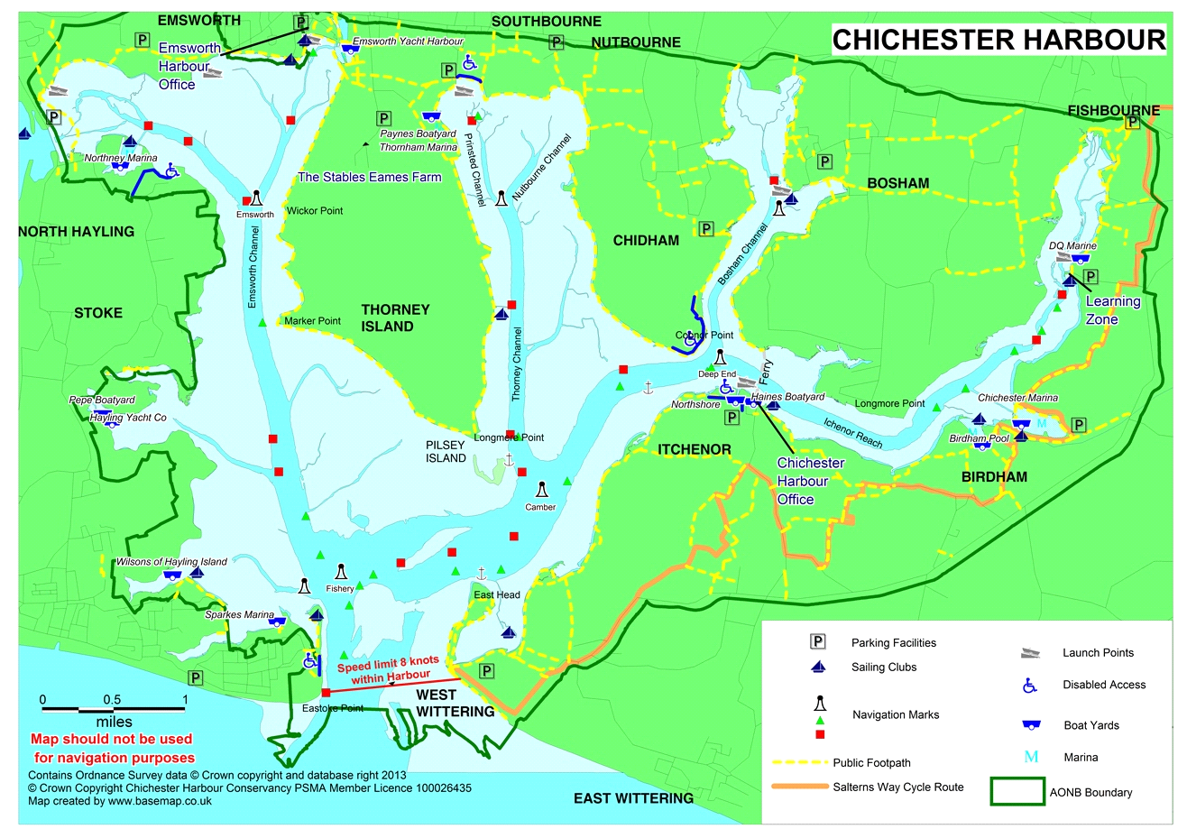 chichester harbour map